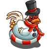 Snowman Suit Chicken-icon