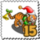 Cheerie Festive Tiger Stamp-icon