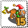 Cheerie Festive Tiger Stamp-icon