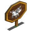 Gray Pineywoods Cow Mastery Sign-icon