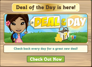 Deal of the Day Notification Pop Up
