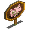 Hibiscus Pig Mastery Sign-icon
