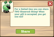 Shamrock Sheep Wall Post Notification