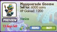 Masquerade Gnome Market Info (August 2012)