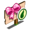 Organic Pink Bow Mastery Sign-icon