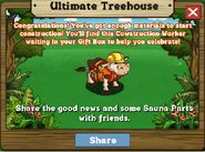 Ultimate Treehouse Stage 2 Completed Message