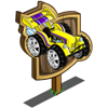 Yellow Racer Tractor Mastery Sign-icon