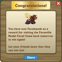 FV Model Farm visit message IV