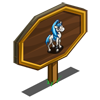 Blue Ponytail Foal Mastery Sign-icon
