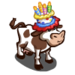 Cake Hat Cow-icon