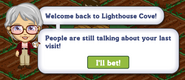 Welcome Back to Lighthouse Cove Quest Notification