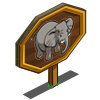 African Elephant Mastery Sign-icon