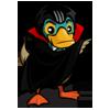 Count Duckula behind cape