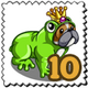 Frog Hopper Dog Stamp-icon