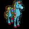 Tie Dye Horse-icon