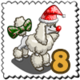 Red Nose Poodle Stamp-icon