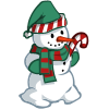 Candy Cane Snowman-icon