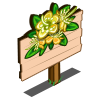Yellow Myrtle Flower Mastery Sign-icon
