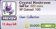 Crystal Mushroom Market Info (June 2012)