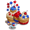 Giant July Cupcake Tree-icon