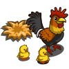 Rooster with Chicks-icon