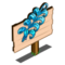 Swirling Blue Fern Mastery Sign-icon