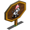 4th Birthday Cupcake Calf Mastery Sign-icon