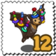 Party Hat Fruit Bat Stamp-icon