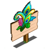 Roaring 20s Peacock Feather Mastery Sign-icon