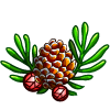 Snowy Pinecone-icon