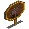 Ankole Longhorn Cow Mastery Sign-icon