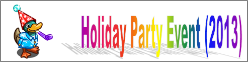 Holiday Party Event (2013) Event Banner