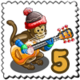 Musical Monkey Stamp-icon