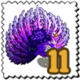 Purple Drenched Peacock Stamp-icon