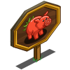 Tomato Pig Mastery Sign-icon
