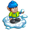 Snowball fight Gnome-icon