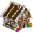 Winter gingerbread home-icon