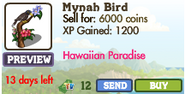 Mynah Bird (decoration) Market Info (April 2012)