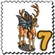 Bat Ears Deer Stamp-icon