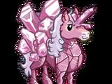 Rose Crystal Unicorn
