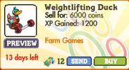 Weightlifting Duck Market Info (July 2012)