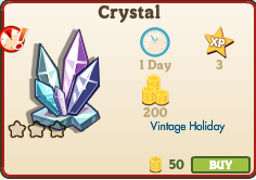 Crystal Market Info (December 2012)