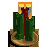 Winter threecandlesgreen-icon