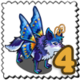 Butterfly Wings Wolf Stamp-icon