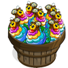 Flower Stack Bee Bushel-icon