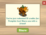 Pumpkin Cow