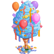 4th Birthday Cotton Candy Tree-icon