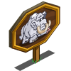 White Woolly Mammoth Mastery Sign-icon