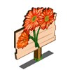 Orange Daisy Mastery Sign-icon