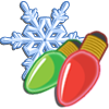 Holiday Lights and Snow-icon